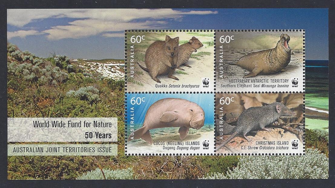 wwf 50th anniversary mesa stamps
