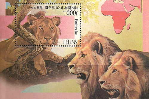 Animal Stamps - Lions