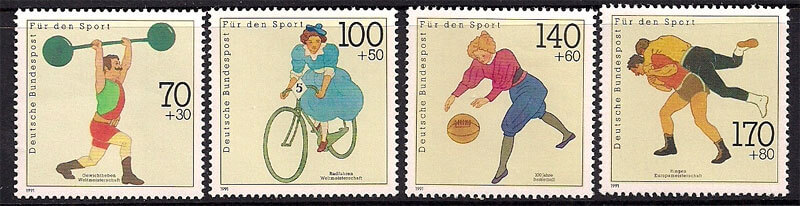 German Stamps - Sports