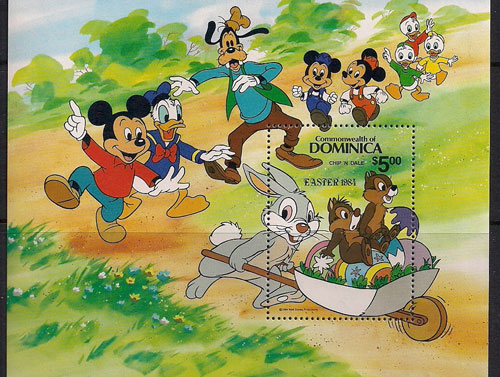 Walt Disney Stamps - Mickey Mouse, Donald Duck, Goofy, etc.