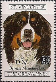Burmese Mountain Dog Stamps