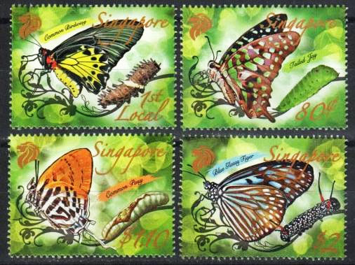 Butterfly Stamps, Singapore