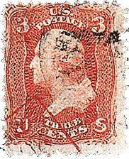 3 Cent, George Washington, US Rare Stamps